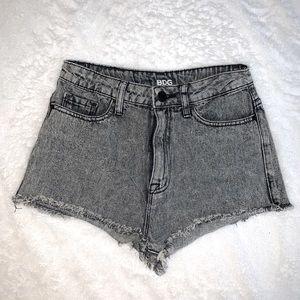 BDG High Waisted Acid Wash Denim Shorts
